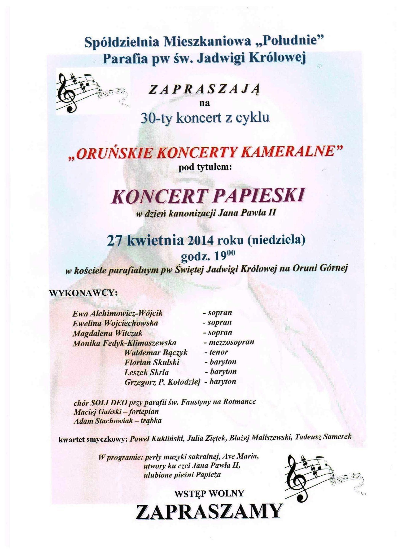 Koncert JPII